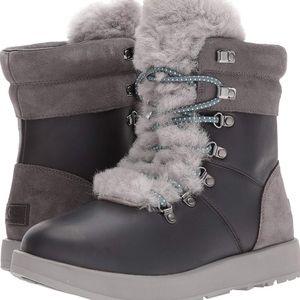 NEW UGG Viki waterproof leather & fur boots